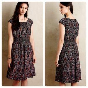 MAEVE Anthropologie Evaline Midi Dress Sz Small